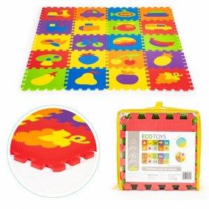 Mata piankowa edukacyjna EVA puzzle 20 elementów 148x119cm
