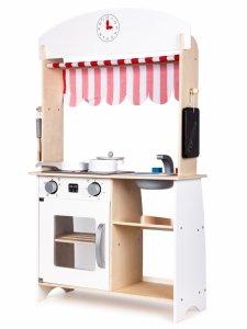 Drewniana kuchnia sklep stragan + dodatki Ecotoys