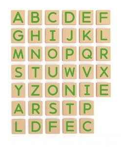 Drewniany zestaw magnetycznych liter - 40 elementów Viga