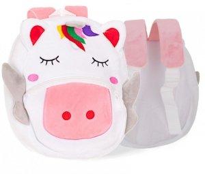 Plecak pluszowy dla przedszkolaka jednorożec