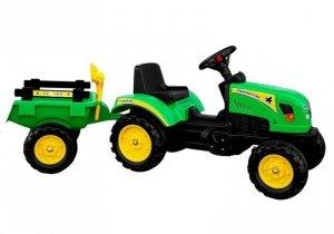 Traktor Branson z przyczepą zielony na pedały 135 cm
