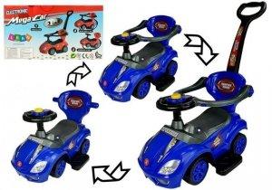 Jeździk z pchaczem Mega Car 3w1 niebieski