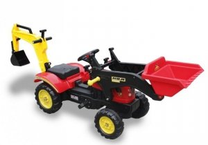 Traktor dla dzieci na pedały z łyżką Branson