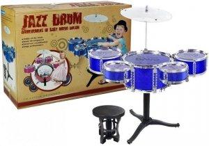 Zestaw Bębnów Jazzowych Perkusja Niebieska