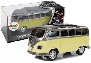 Autobus Resorak z Naciągiem Żółty ze światłami i dźwiękiem