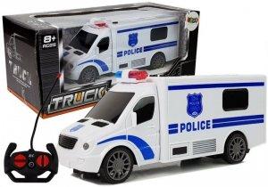 Auto zdalnie sterowane RC Policja dźwięk światła