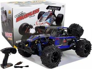 Auto Terenowe Buggy Zdalnie Sterowane 1:18 Niebieskie ENOZE 9303E 45 km/h