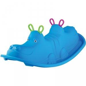 Huśtawka dla dzieci Hippo 103.5x45.5x30.5cm niebieska