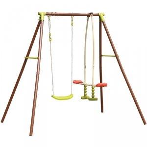Huśtawka ogrodowa dla dzieci  3-osobowa plac zabaw dla dzieci