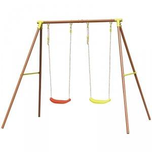 Huśtawka ogrodowa dla dzieci  2 osobowa plac zabaw dla dzieci