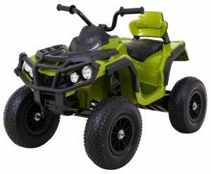 Quad na akumulator dla dzieci ATV Pompowane Koła Zielony
