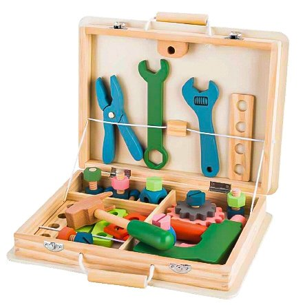 Drewniana skrzynka z narzędziami walizka Ecotoys