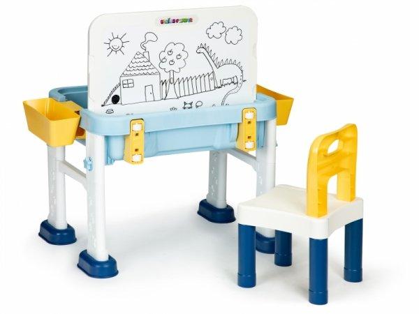 Stolik do zabawy 6w1 krzesełko tablica dla dzieci