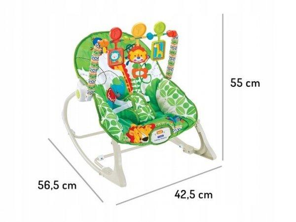 Leżaczek bujaczek fotelik 3w1 wibracje Ecotoys