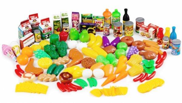 Plastikowe warzywa owoce zabawki kuchnia 120 szt