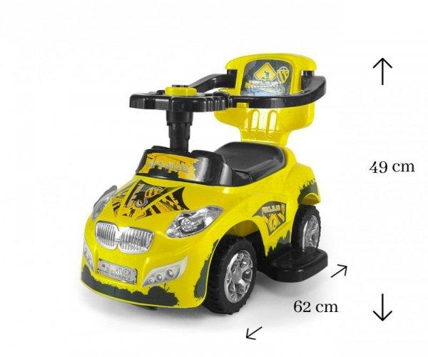 Jeździk 3w1 Pojazd Happy Yellow Milly Mally