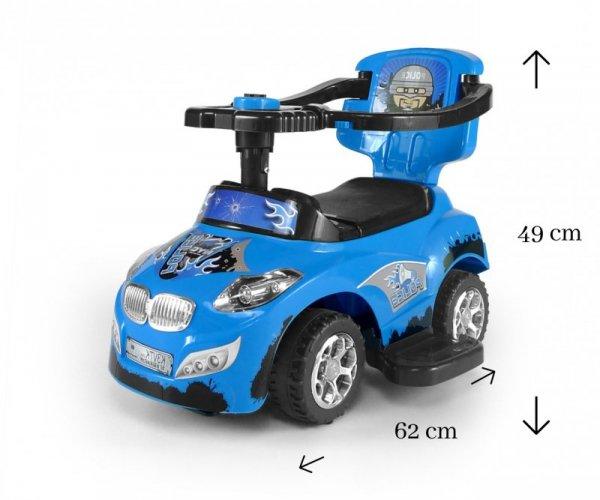 Jeździk 3w1 Pojazd Happy Blue Milly Mally