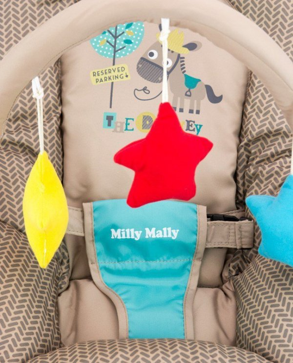 Leżaczek Milly Khaki Safari Milly Mally