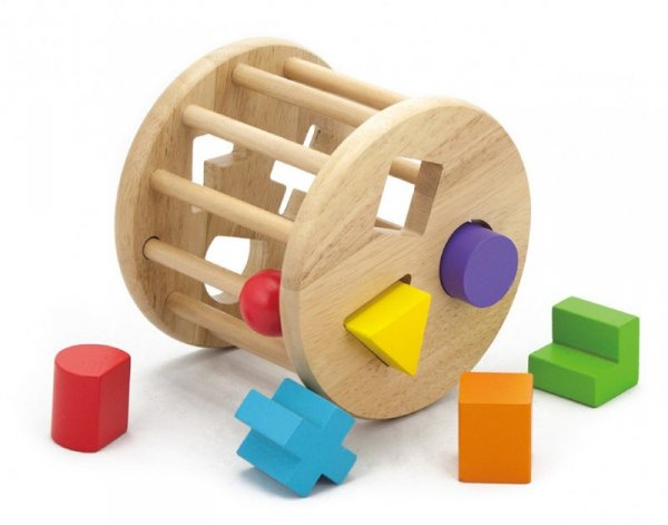 Drewniany sorter kształtów - koło Viga