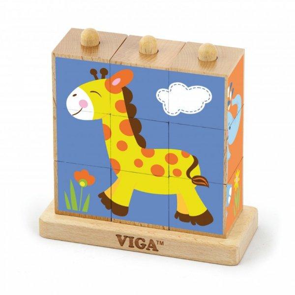 Kostki logiczne - zoo Viga