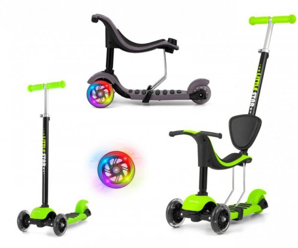 Hulajnoga Scooter Little Star Green 3w1 Milly Mally