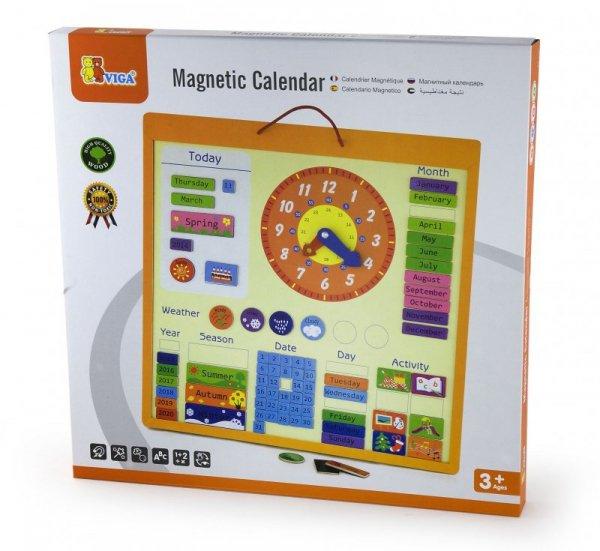 Drewniany kalendarz magnetyczny Viga