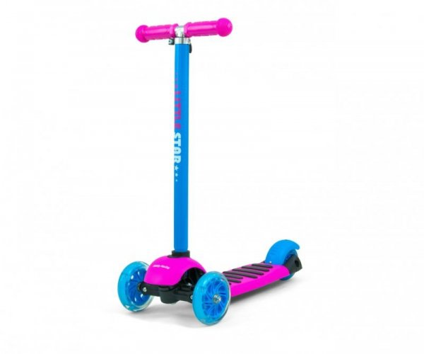 Hulajnoga Scooter Little Star Pink-Blue Milly Mally