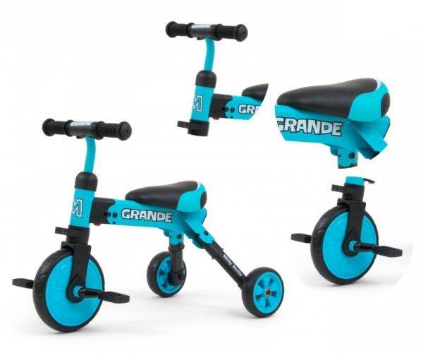 Rowerek na pedały, biegowy 2w1 Grande Blue  Milly Mally