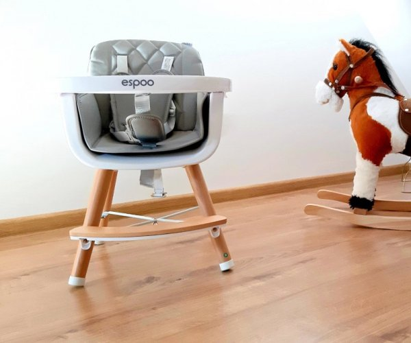 Krzesełko do karmienia 2w1 Espoo White Milly Mally