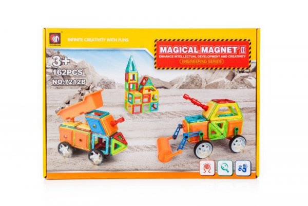 Klocki magnetyczne MAGICAL MAGNET 162szt