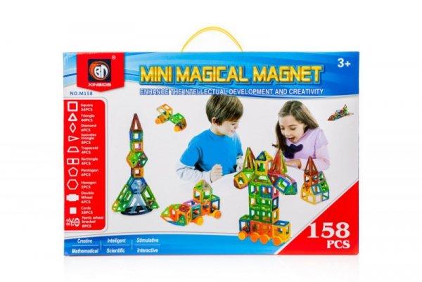 Klocki magnetyczne MAGICAL MAGNET 158szt