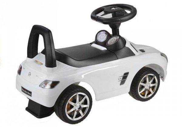Jeździk pchacz  Mercedes-Benz z Kierownicą Biały