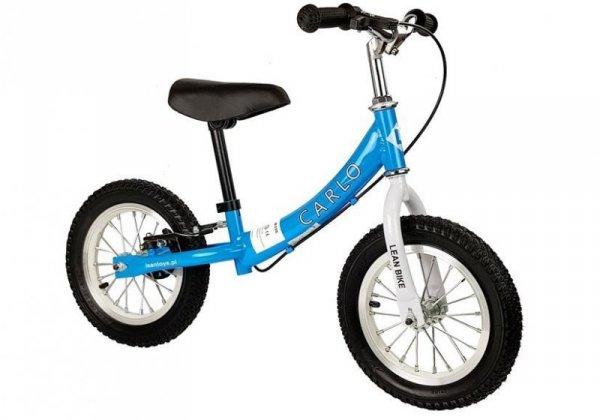 Rowerek biegowy Carlo z hamulcem ciemny różowy