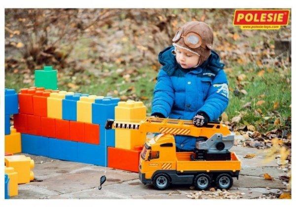 Samochód autko dźwig Ruchoma Platforma Polesie Wader 8824