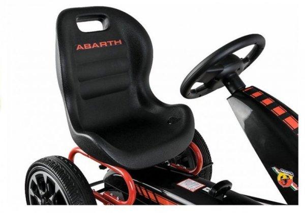 Gokart ABARTH Czarny Koła EVA