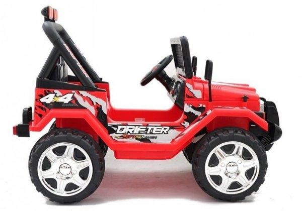 Auto na akumulator Raptor 2x45 dwuosobowy Czerwony