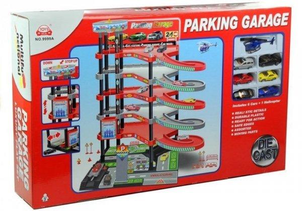 Garaż Parking 5 Pięter Zjeżdżalnia Winda + Pojazdy
