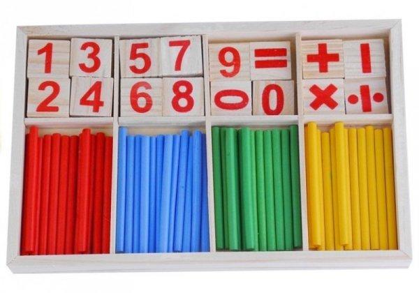 Zestaw Edukacyjny Drewniany Do Nauki Matematyki