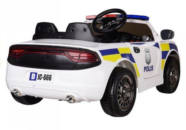 Auto na Akumulator Samochód Policyjny Biały