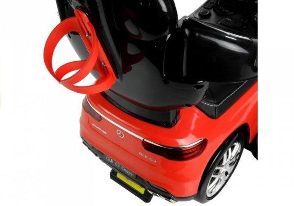 Jeździk pchacz  Mercedes GLE 63 z Daszkiem Czerwony