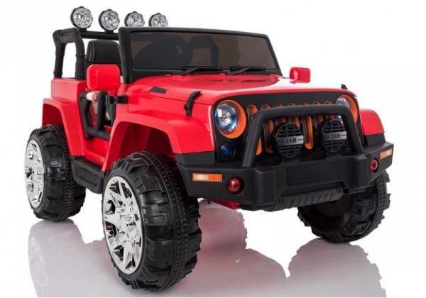 Auto na Akumulator Jeep 4x4 A999 Czerwony