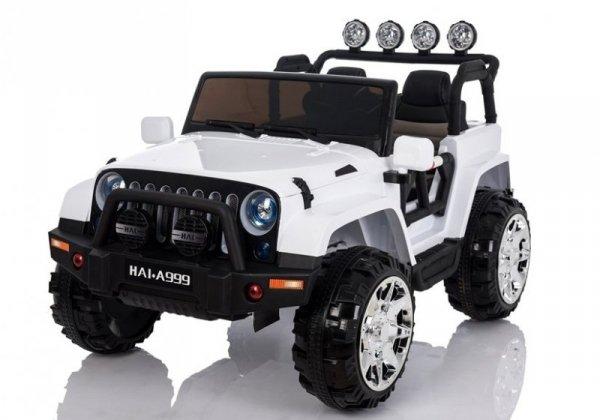 Auto na Akumulator Jeep 4x4  A999 Biały
