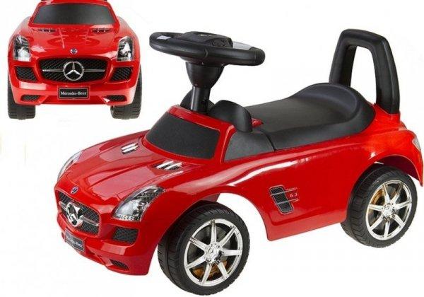 Jeździk pchacz Mercedes-Benz z Kierownicą Czerwony