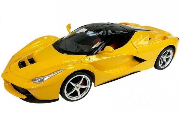 Auto zdalnie sterowane R/C Ferrari Rastar 1:14 Żółte na pilota
