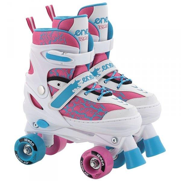 Łyżworolki wrotki łyżwy regulowane dla dzieci  3w1 Enero Lemon r.34-37