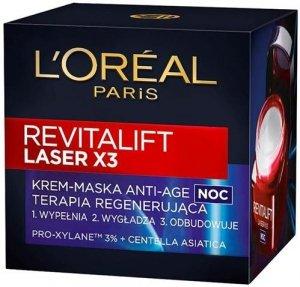 L'OREAL Revitalift Laser X3 krem-maska do twarzy na noc dla kobiet 50ml
