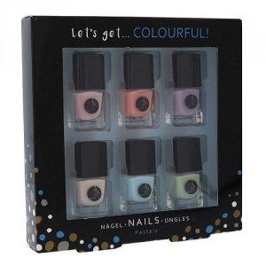 ZESTAW 2K Let's Get Colourful! Pastels lakier do paznokci 6x5ml