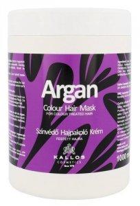 KALLOS COSMETICS Argan maska do włosów farbowanych dla kobiet 1000ml