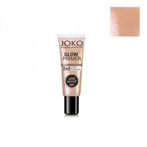 JOKO Make-Up Glow Primer Illuminating 2in1 Primer&Highlighter baza i rozświetlacz w kremie 2w1 25ml (201 Love Yourself)