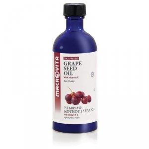 MACROVITA OLEJEK Z PESTEK BIO-WINOGRON w naturalnych olejach tłoczony na zimno z witaminą E 100ml